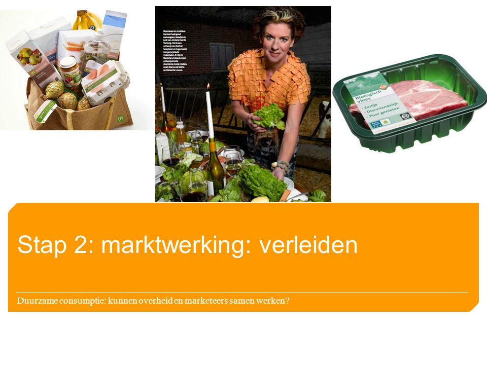 Stap 2: marktwerking: verleiden