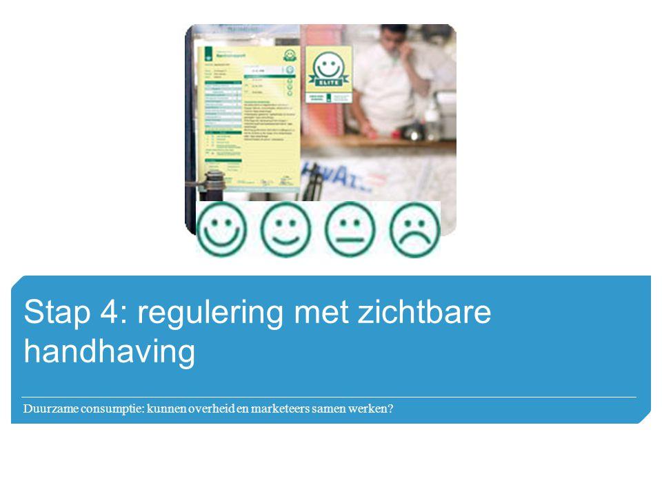 Stap 4: regulering met zichtbare handhaving