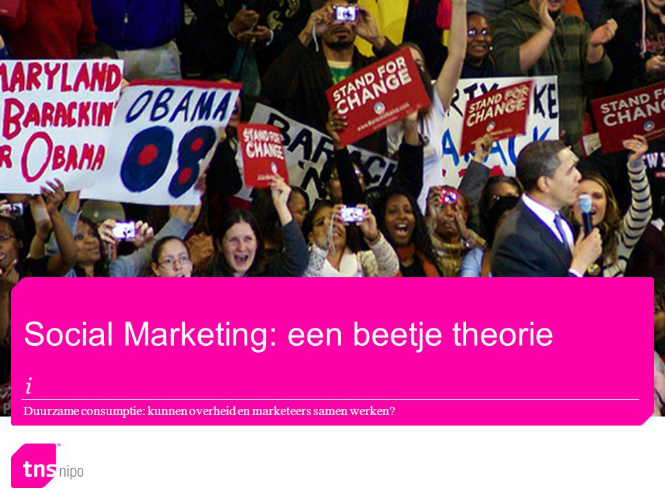 Social Marketing: een beetje theorie