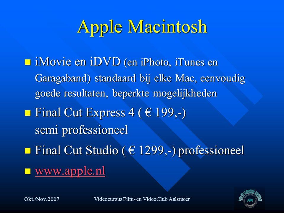 Videocursus Film- en VideoClub Aalsmeer