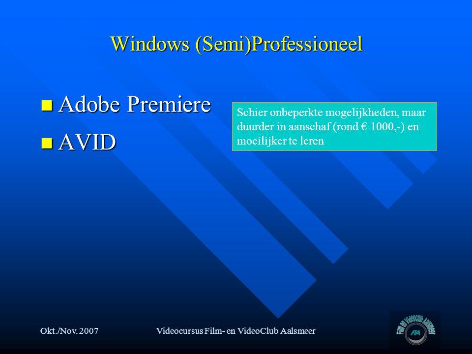 Windows (Semi)Professioneel