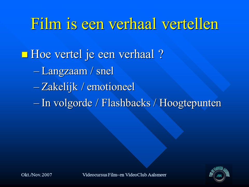 Film is een verhaal vertellen