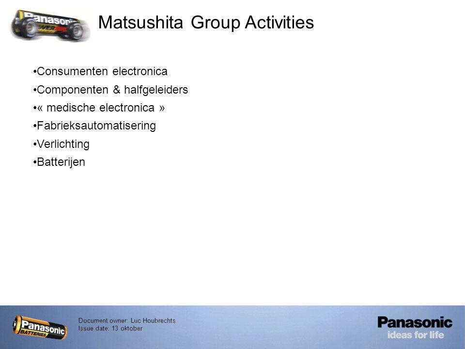 Matsushita Group Activities