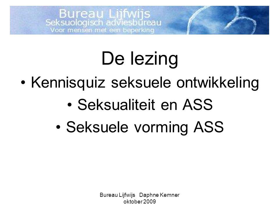 De lezing Kennisquiz seksuele ontwikkeling Seksualiteit en ASS