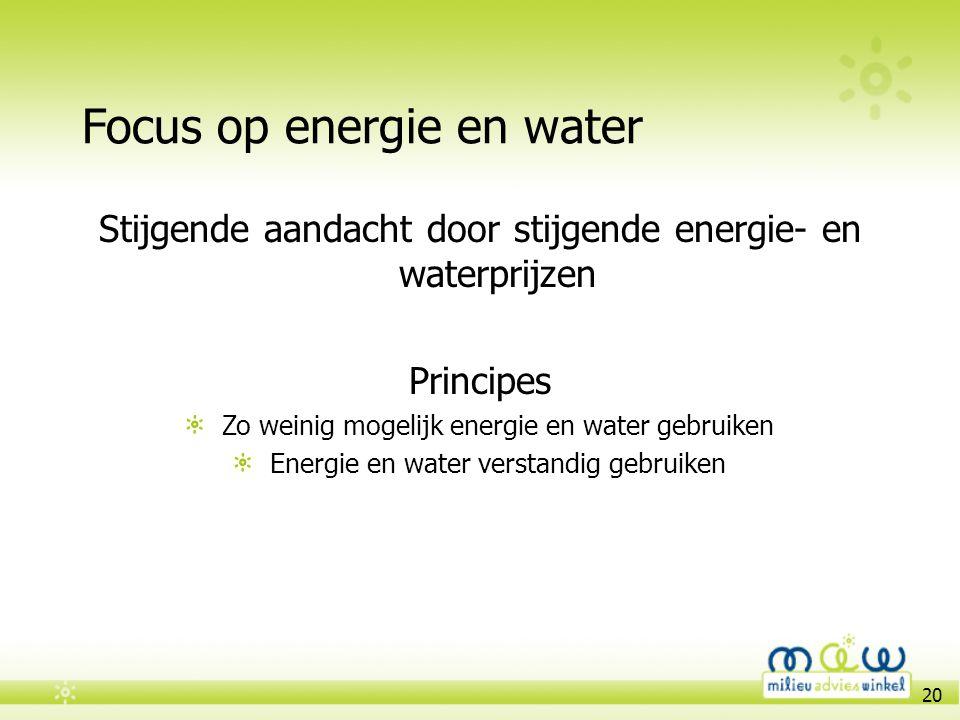 Focus op energie en water
