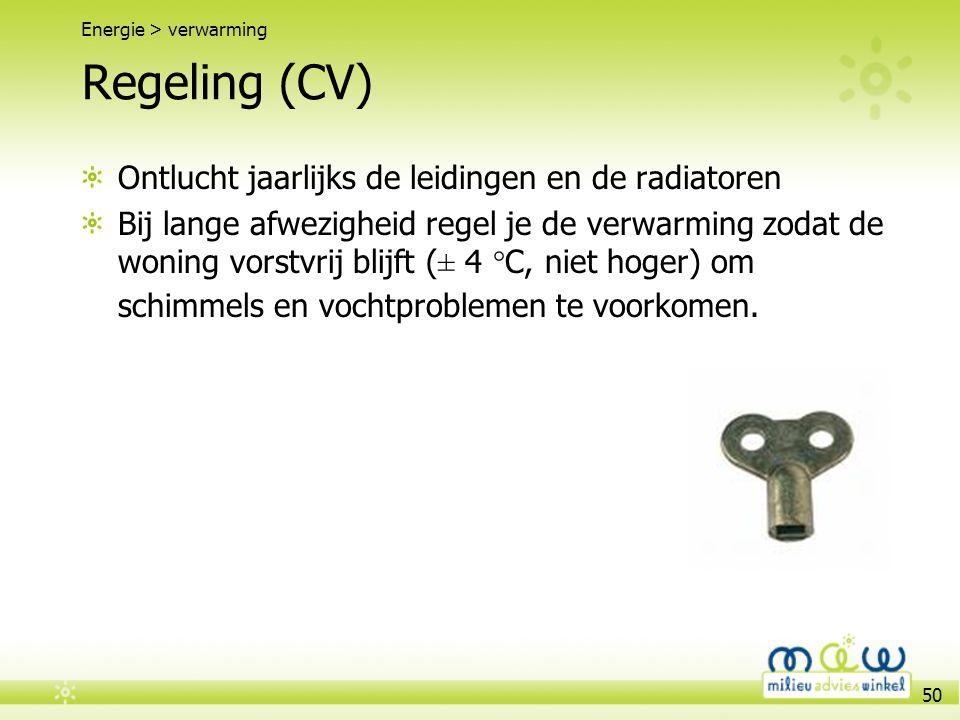 Regeling (CV) Ontlucht jaarlijks de leidingen en de radiatoren