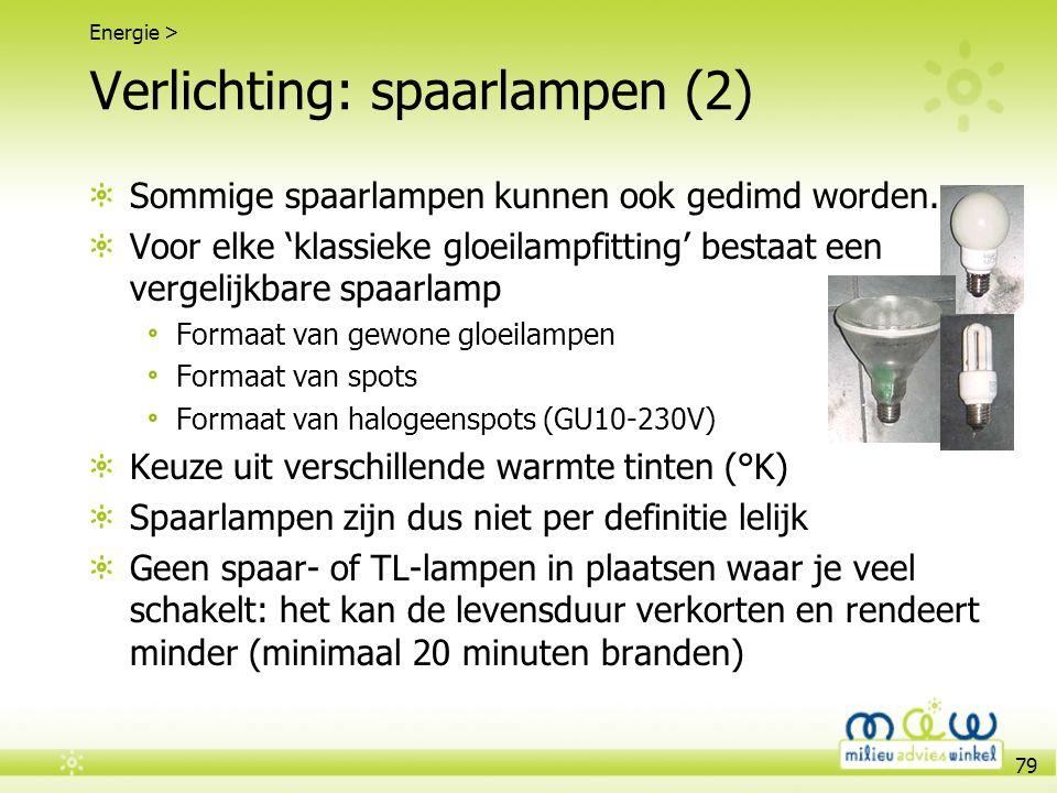 Verlichting: spaarlampen (2)