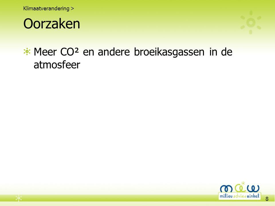 Oorzaken Meer CO² en andere broeikasgassen in de atmosfeer