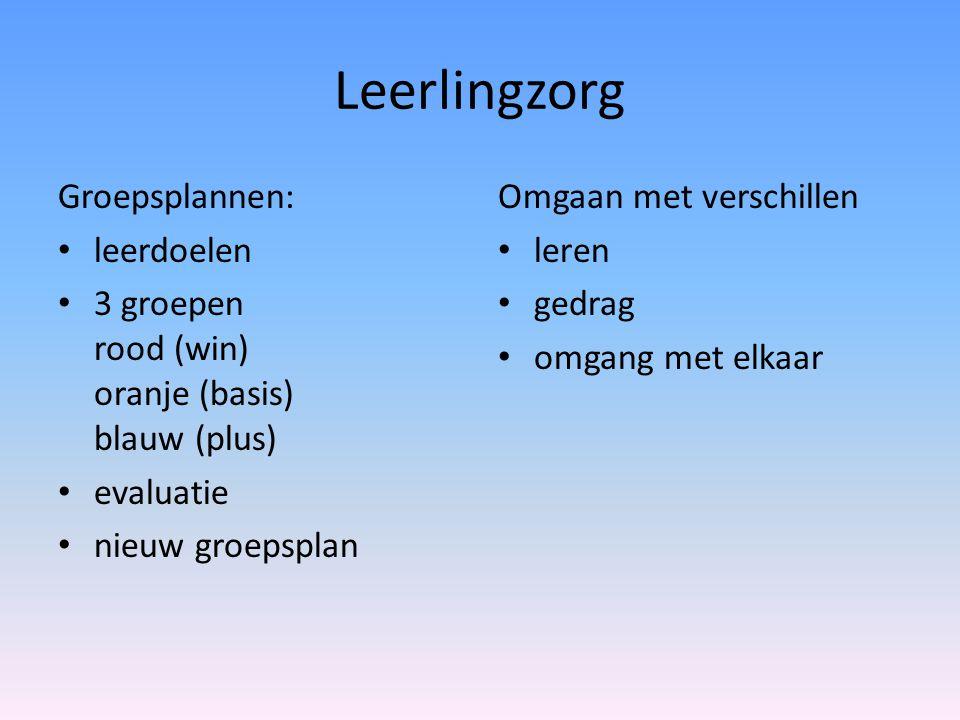 Leerlingzorg Groepsplannen: leerdoelen
