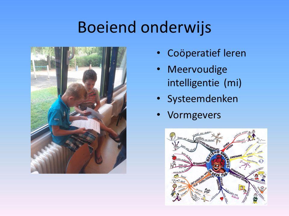 Boeiend onderwijs Coöperatief leren Meervoudige intelligentie (mi)