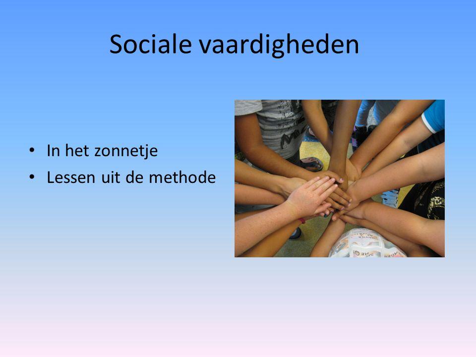 Sociale vaardigheden In het zonnetje Lessen uit de methode