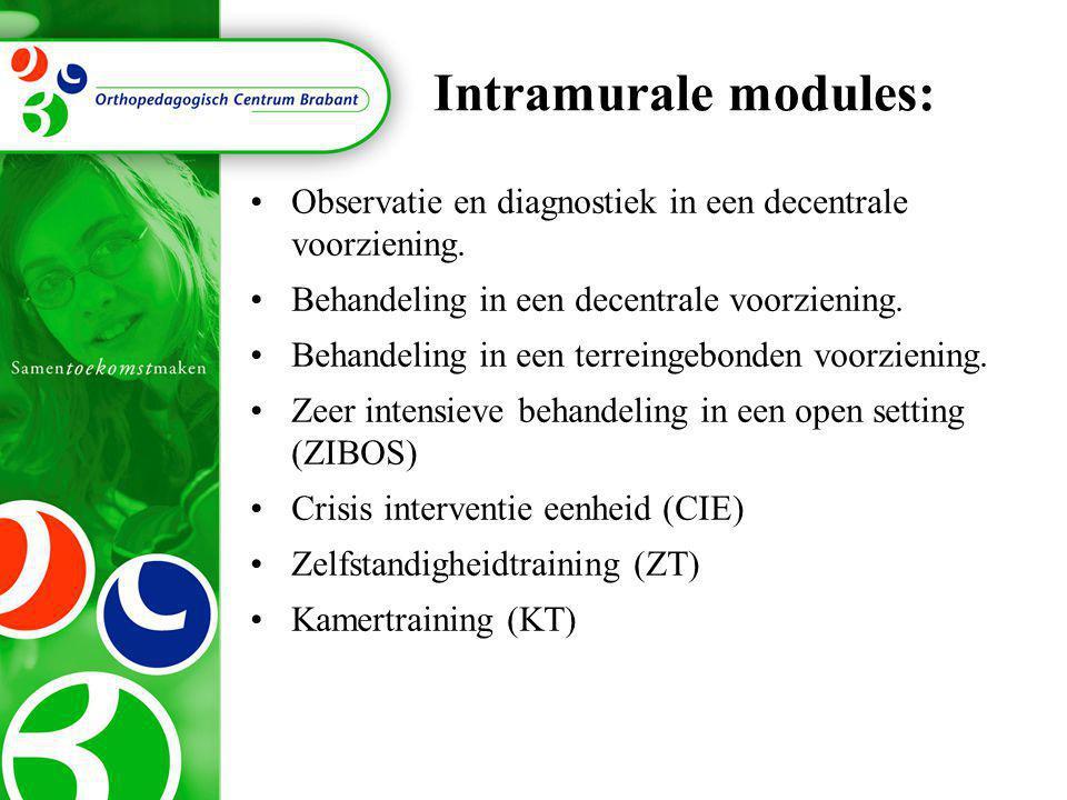 Intramurale modules: Observatie en diagnostiek in een decentrale voorziening. Behandeling in een decentrale voorziening.