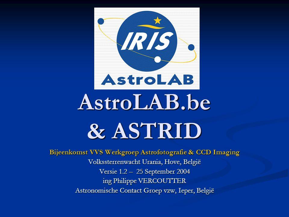 Bijeenkomst VVS Werkgroep Astrofotografie & CCD Imaging