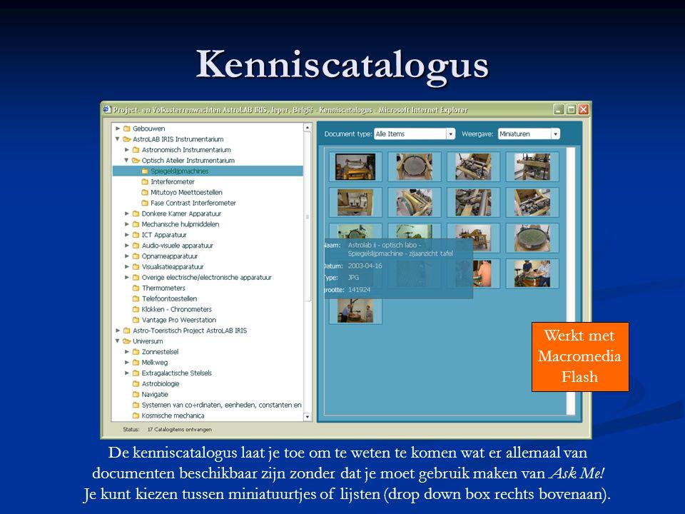 Kenniscatalogus Werkt met Macromedia Flash