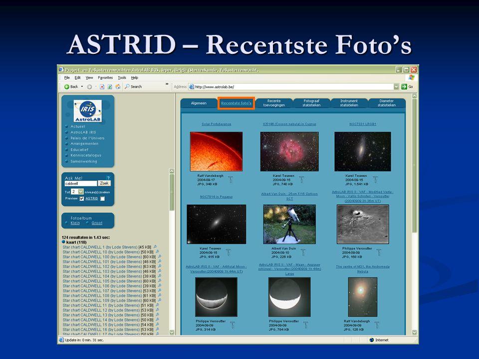 ASTRID – Recentste Foto's
