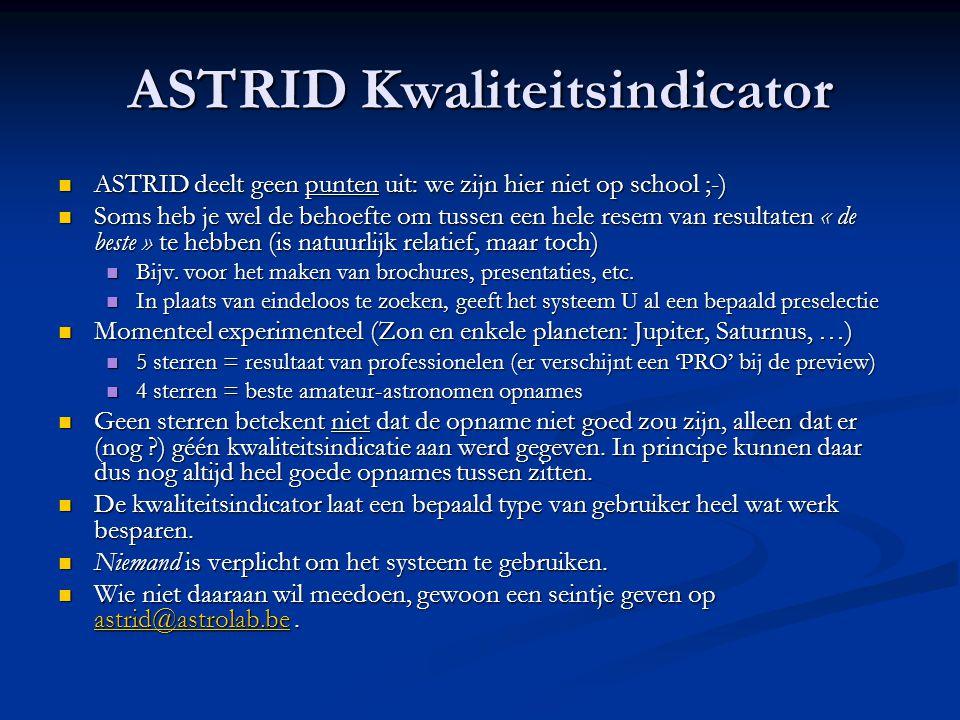ASTRID Kwaliteitsindicator