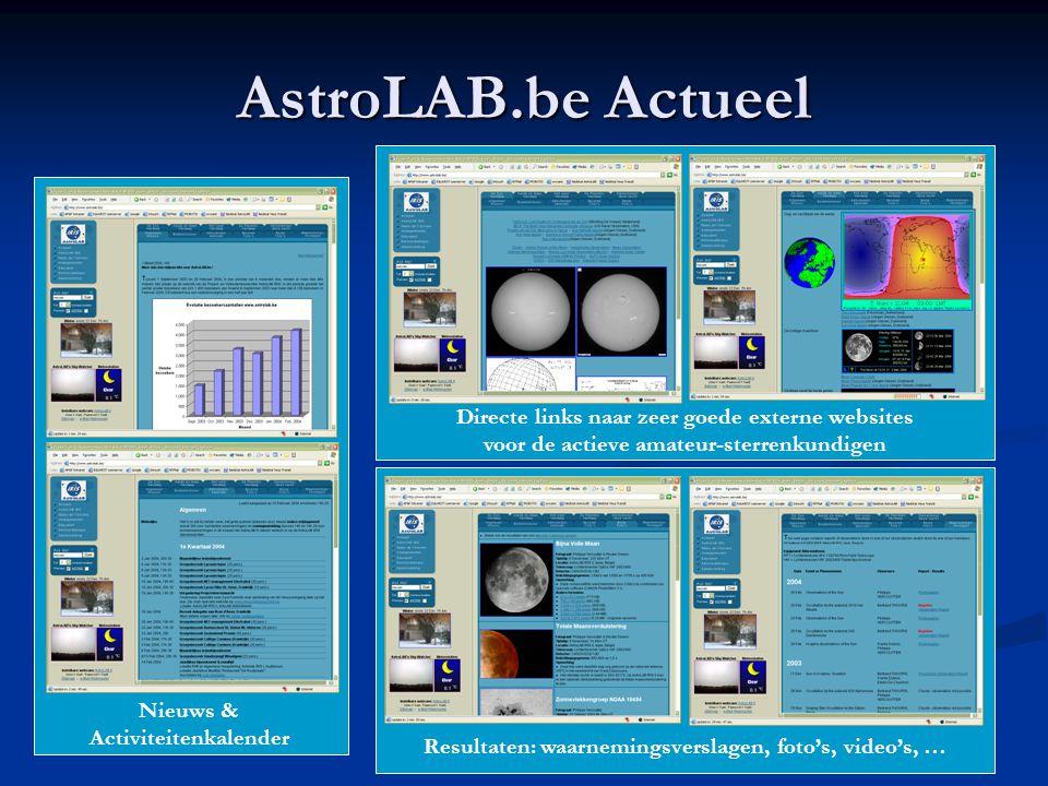 AstroLAB.be Actueel Directe links naar zeer goede externe websites