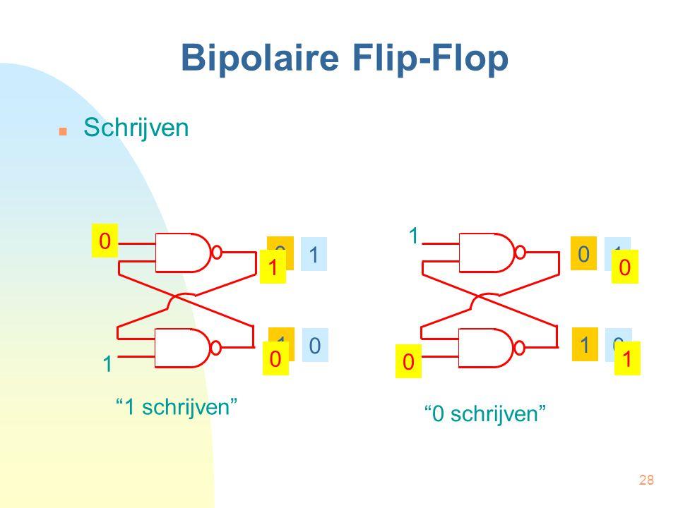 Bipolaire Flip-Flop Schrijven 1 1 1 1 1 1 1 1 1 1 1 schrijven