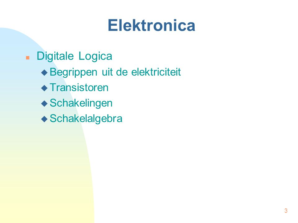 Elektronica Digitale Logica Begrippen uit de elektriciteit