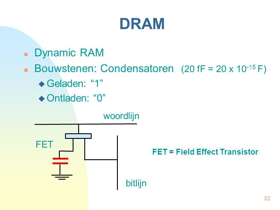 FET = Field Effect Transistor