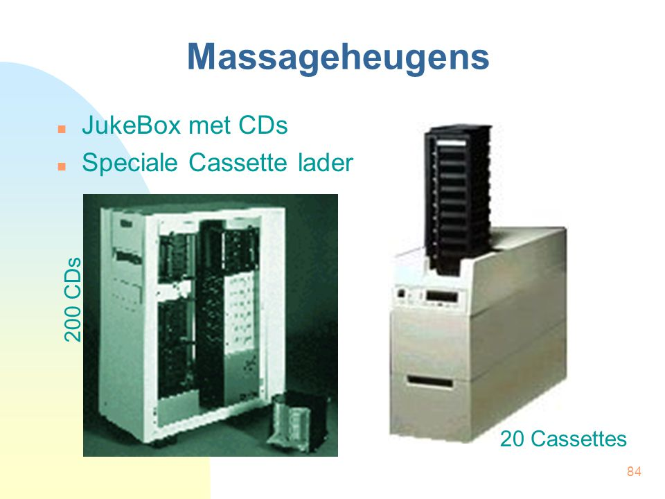 Massageheugens JukeBox met CDs Speciale Cassette lader 200 CDs