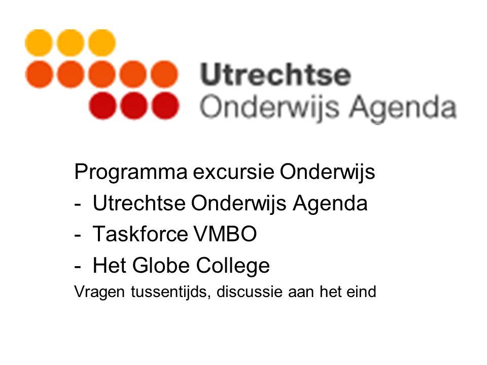 Programma excursie Onderwijs Utrechtse Onderwijs Agenda Taskforce VMBO