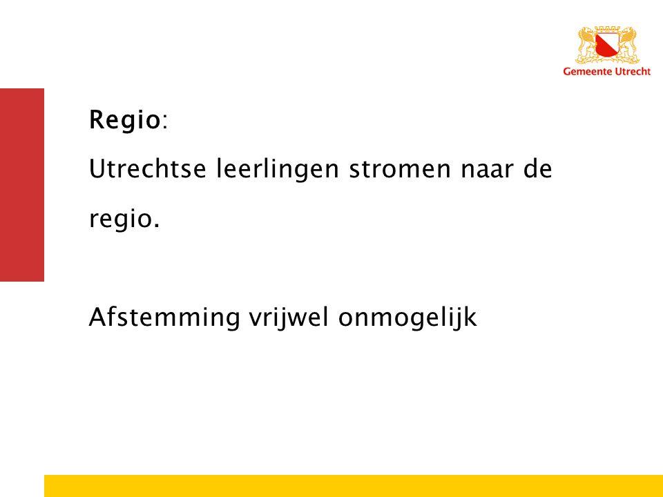 Regio: Utrechtse leerlingen stromen naar de regio