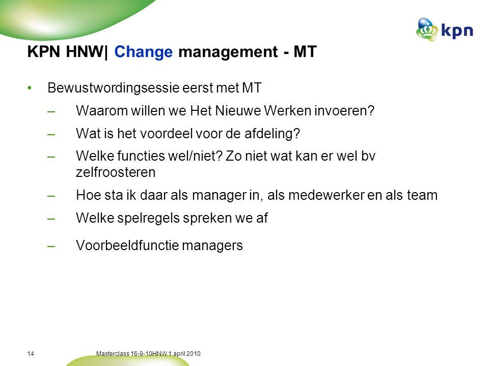 KPN HNW| Change management - cascade down
