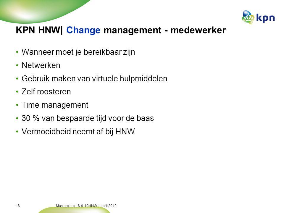 KPN HNW| Via 5 thema's realiseerden we onze ambities