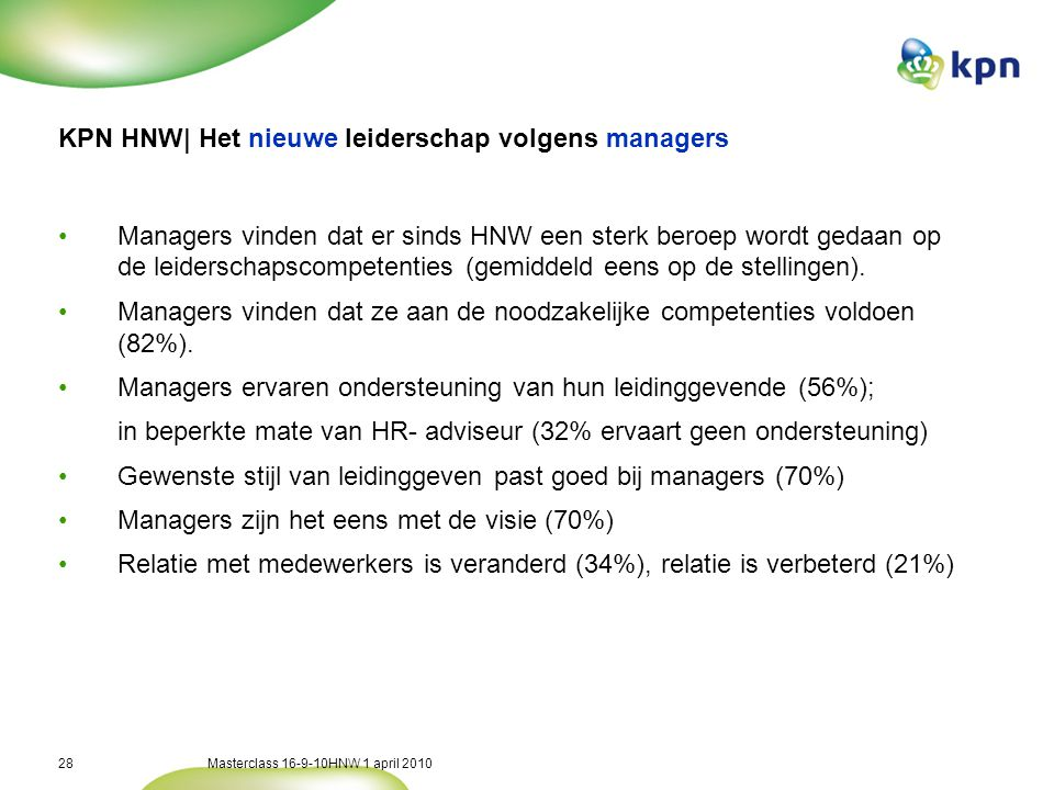 KPN HNW| Het nieuwe leiderschap volgens medewerkers
