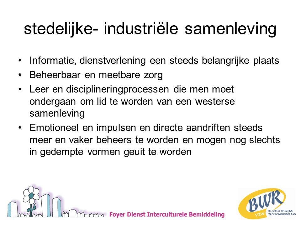 stedelijke- industriële samenleving