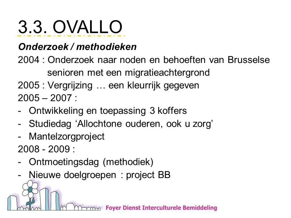 3.3. OVALLO Onderzoek / methodieken