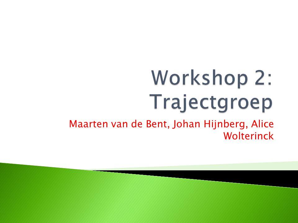 Workshop 2: Trajectgroep