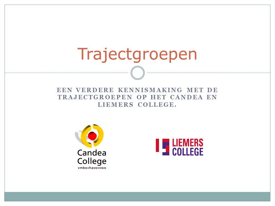 Trajectgroepen Een verdere kennismaking met de trajectgroepen op het Candea en Liemers College.