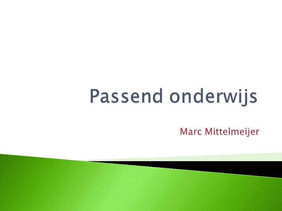 Passend onderwijs Marc Mittelmeijer