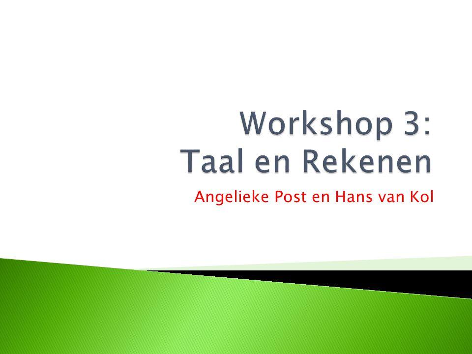 Workshop 3: Taal en Rekenen