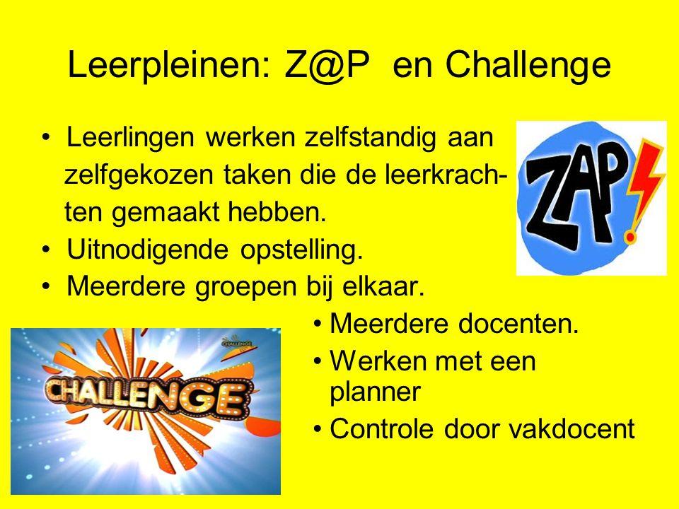 Leerpleinen: Z@P en Challenge