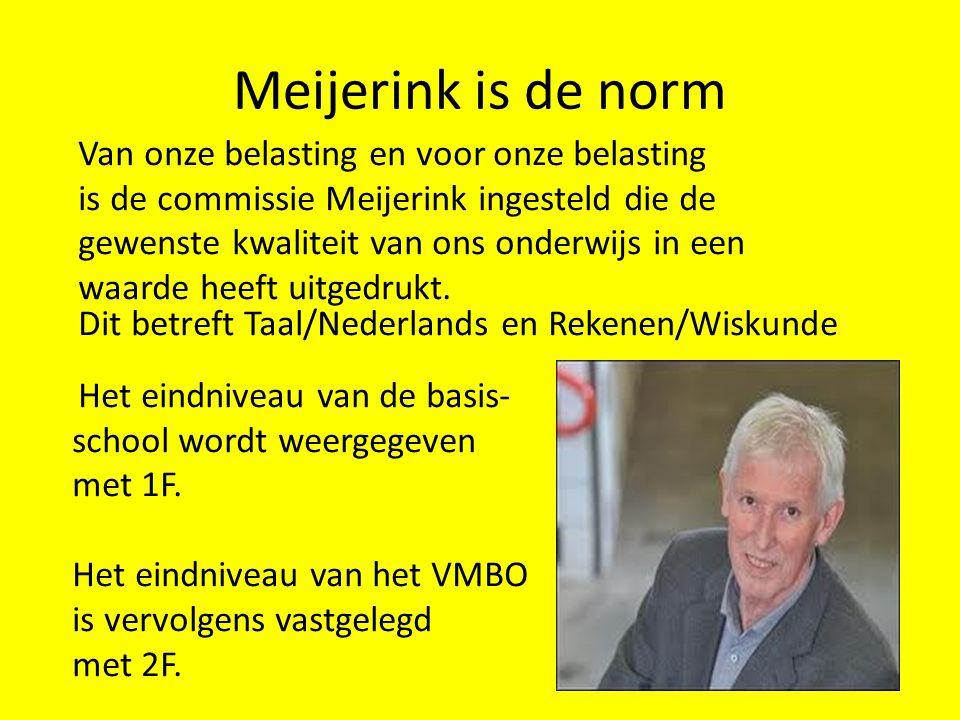 Meijerink is de norm