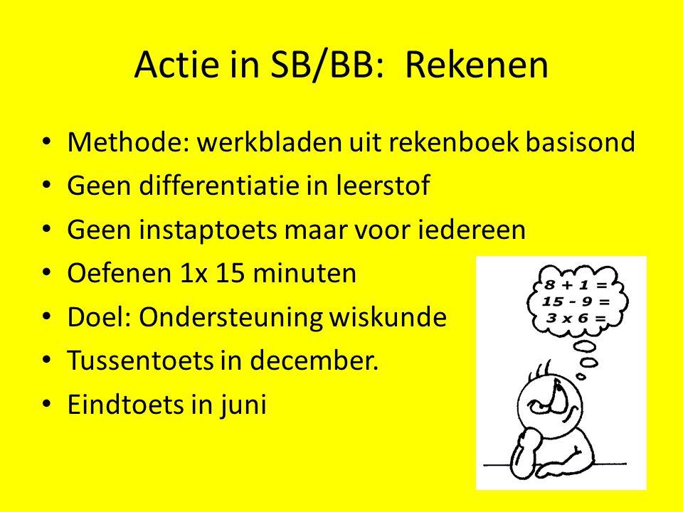 Actie in SB/BB: Rekenen