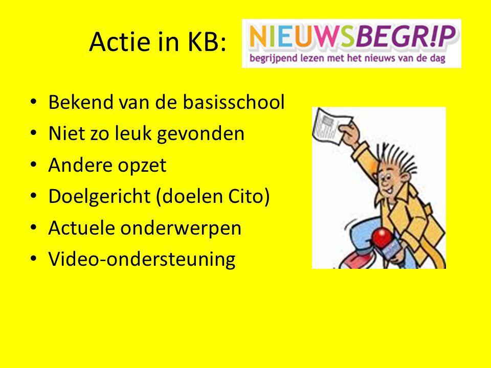 Actie in KB: Bekend van de basisschool Niet zo leuk gevonden