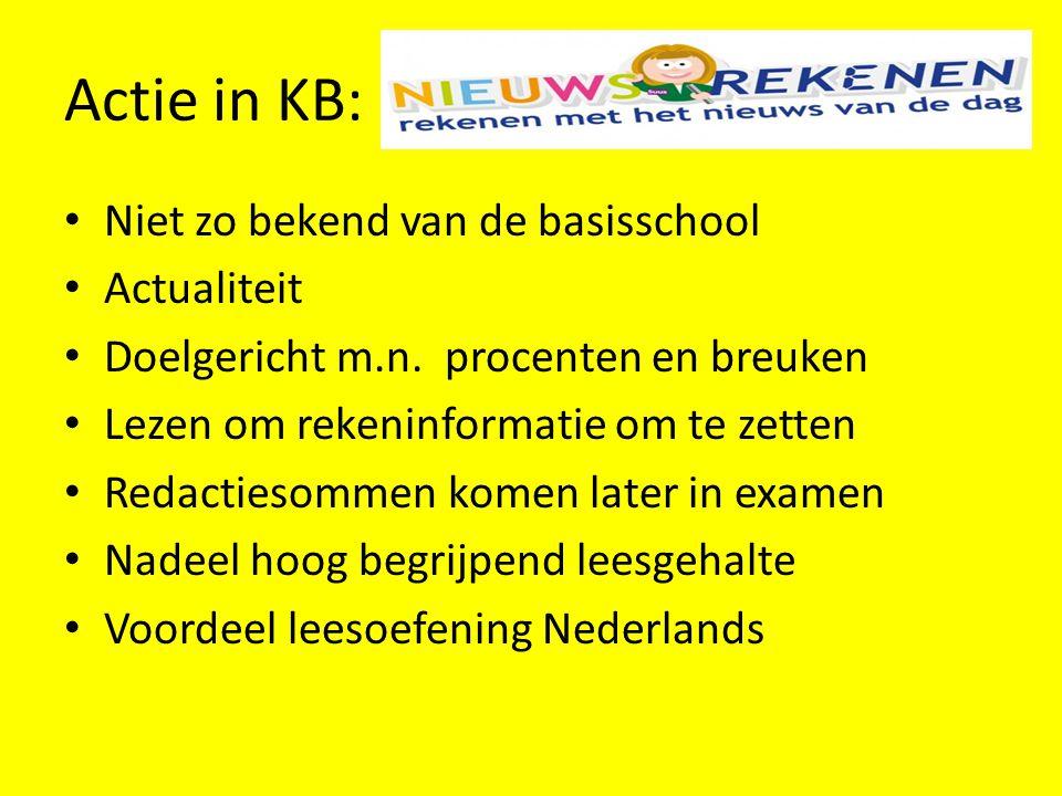 Actie in KB: Niet zo bekend van de basisschool Actualiteit
