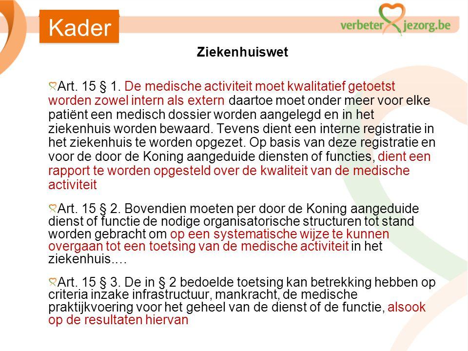 Kader Ziekenhuiswet.