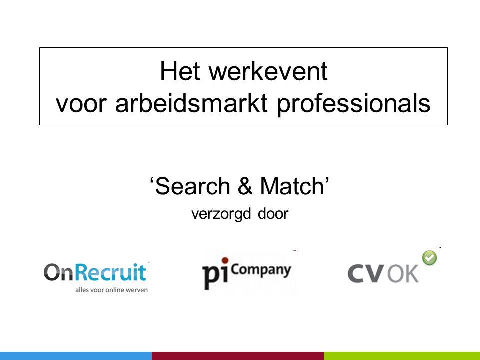 Het werkevent voor arbeidsmarkt professionals