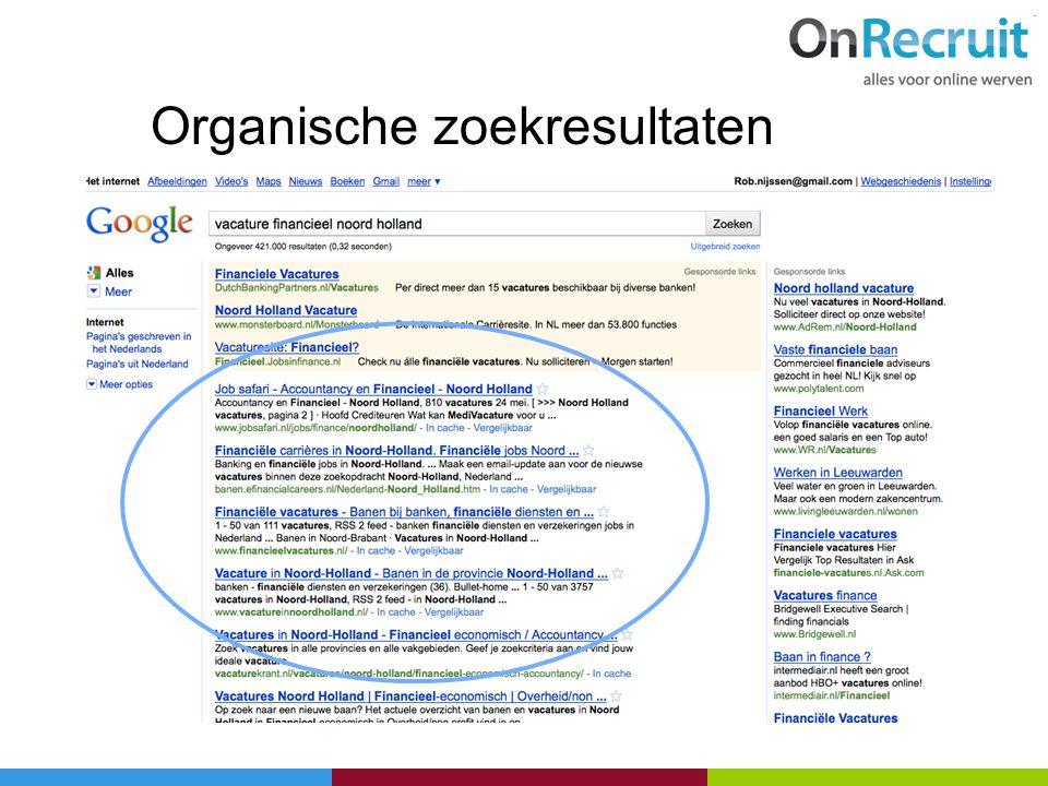 Organische zoekresultaten