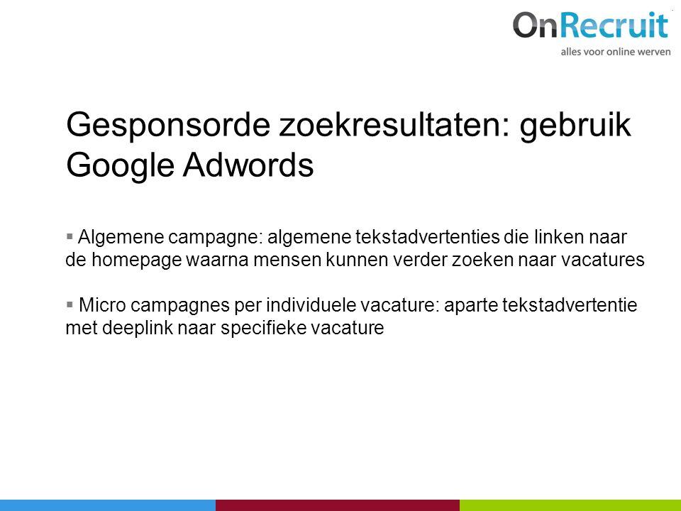 Gesponsorde zoekresultaten: gebruik Google Adwords