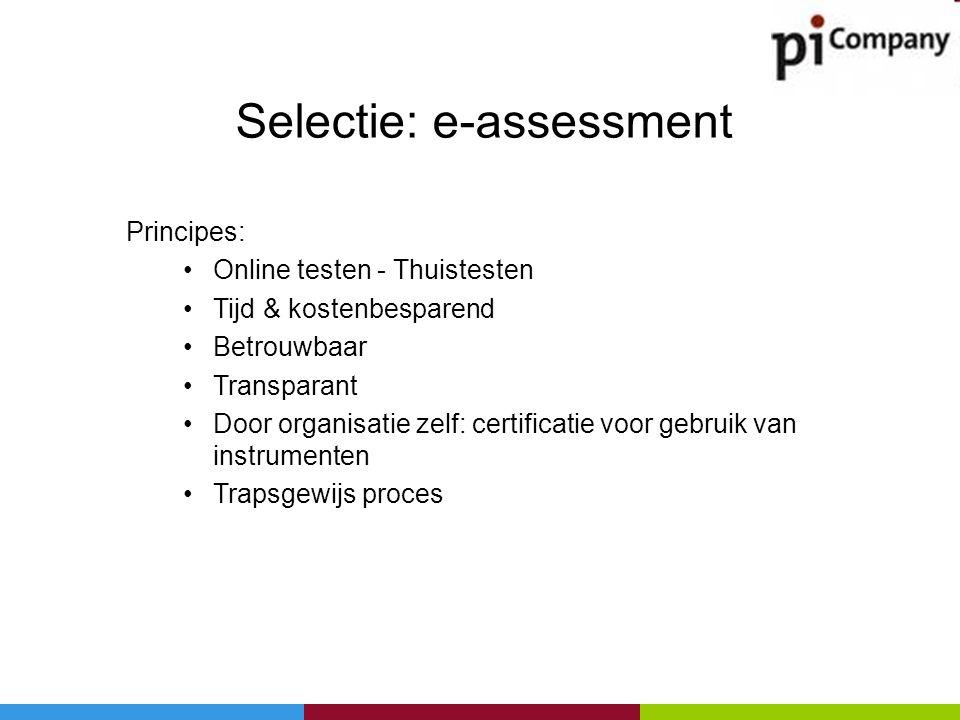 Selectie: e-assessment