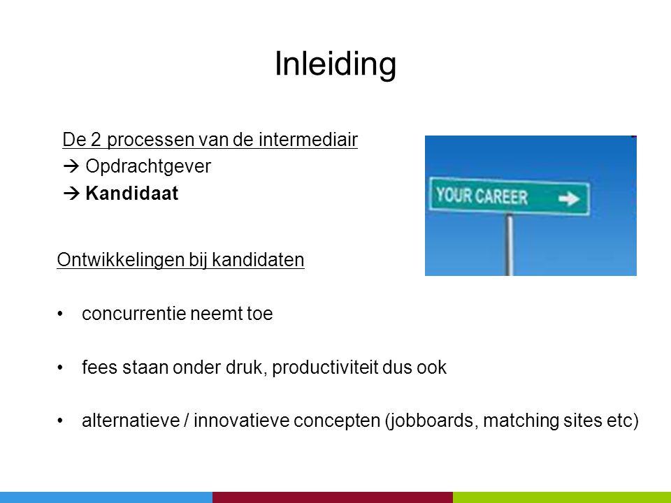 Inleiding De 2 processen van de intermediair  Opdrachtgever