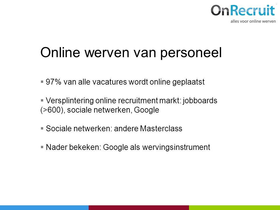 Online werven van personeel
