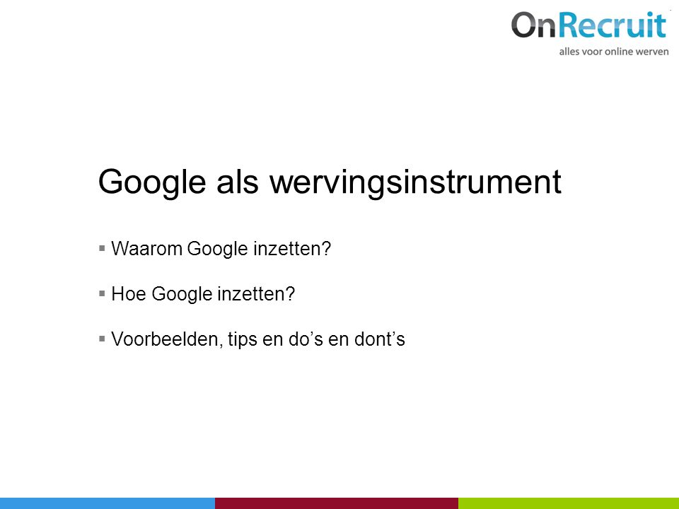 Google als wervingsinstrument