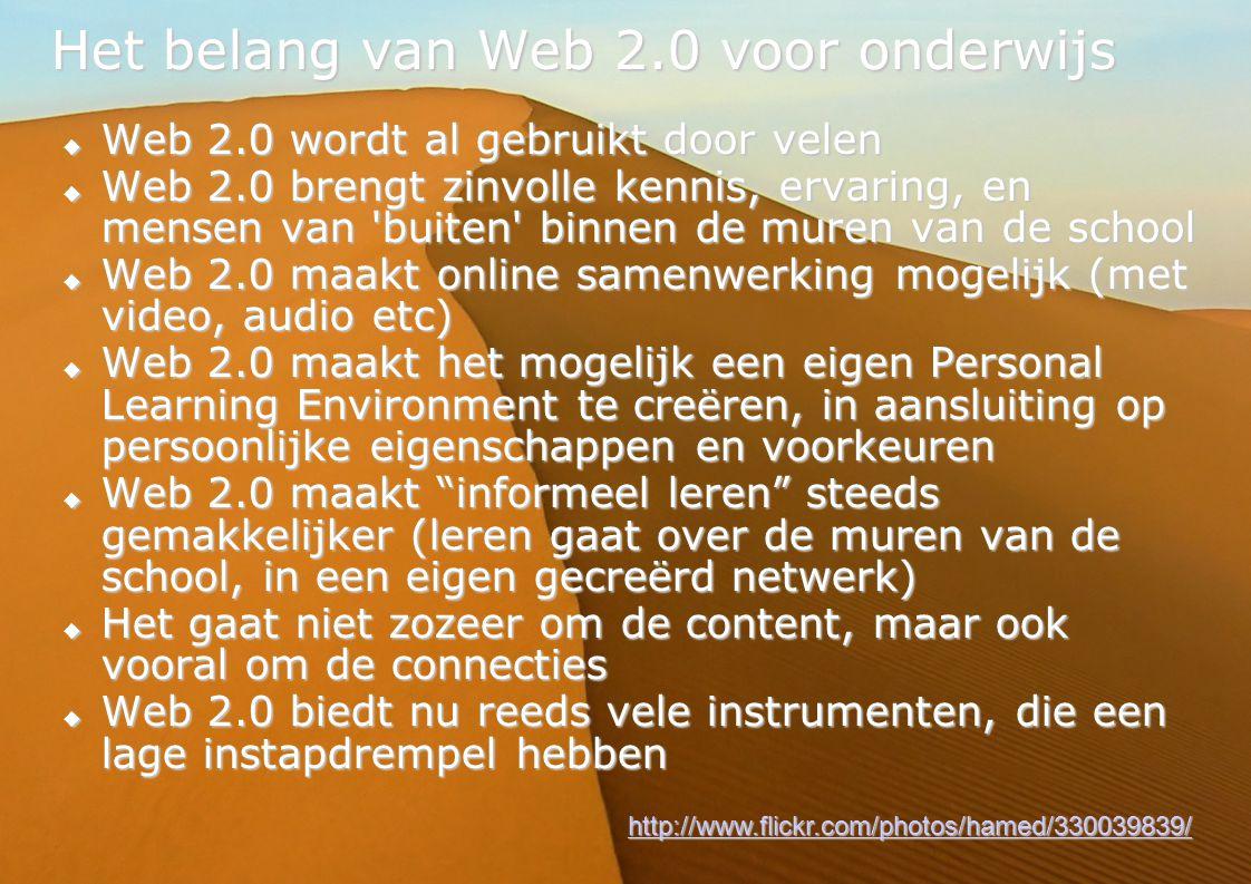 Het belang van Web 2.0 voor onderwijs